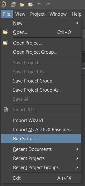 File > Run Script menu