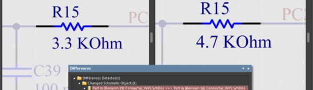File comparison in Altium Designer